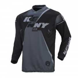 Maillot cross Kenny track noir gris 2017