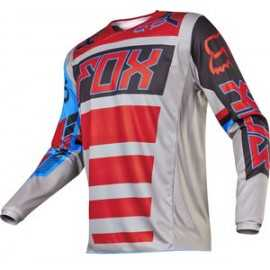 Maillot Fox 180 Falcon grey red