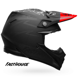 Casque cross Bell Moto-9 Flex Fasthouse matte black red