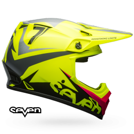 Casque cross Bell mx-9 mips Seven Ignite jaune fluo