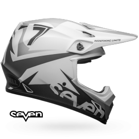 Casque cross Bell MX-9 Mips Seven Ignite matte white