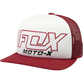 Casquette Fox Throttle maniac rouge