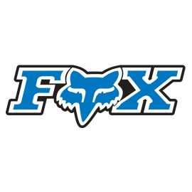 Sticker Fox corporate bleu