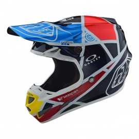 Casque cross Troy Lee Designs SE4 Carbone Metric navy