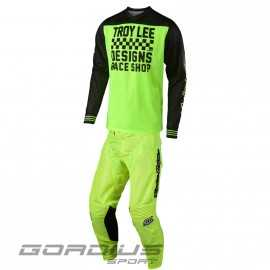 Tenue Troy lee designs GP Air Raceshop jaune fluo