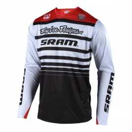 Maillot Troy lee designs Sprint Sram white black 2018