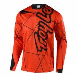 Maillot Troy lee designs Sprint enfant Metric orange noir 2018