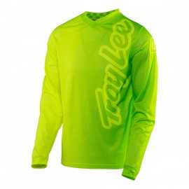 Maillot Troy lee designs GP Air 50/50 jaune fluo