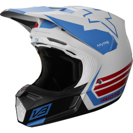 Casque cross Fox V3 Edition Limitée Red White True
