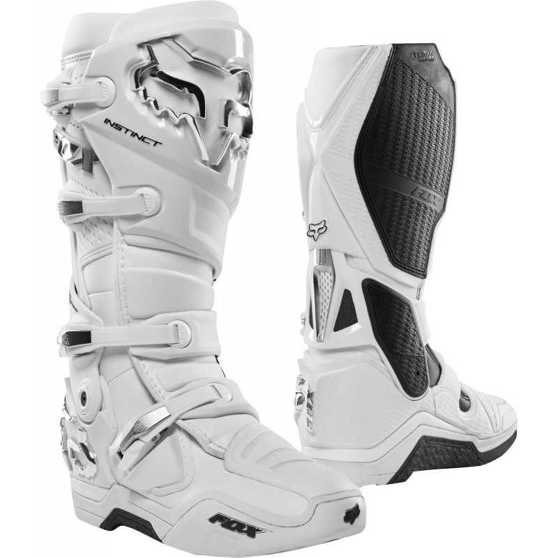 Botte cross Fox Instinct white silver 2020 | botte motocross