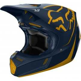 Casque cross Fox V3 Kila navy yellow 2019