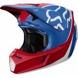 Casque cross Fox V3 Kila blue red 2019