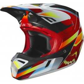 Casque cross Fox V3 Motif red yellow 2019