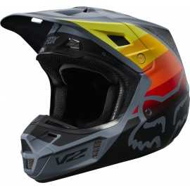 Casque cross Fox V2 Murc blue steel 2019
