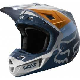 Casque cross Fox V2 Murc light grey 2019