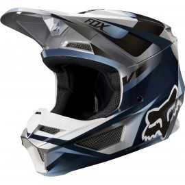 Casque cross Fox V1 Motif blue grey 2019
