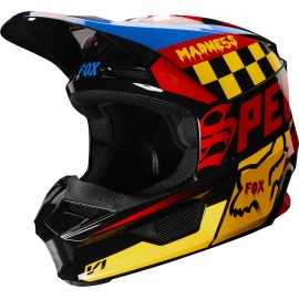 Casque cross Fox V1 CZAR black yellow 2019