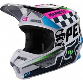 Casque cross Fox V1 CZAR light grey 2019