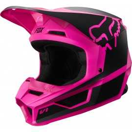 Casque cross Fox V1 PRZM black pink 2019