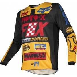 Maillot Fox 180 CZAR black yellow 2019