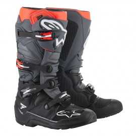 Bottes Enduro Alpinestars Tech 7 black grey red fluo 2019