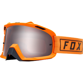 Masque Fox Air Space Gasoline orange flame écran gris miroir
