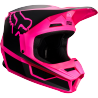 Casque cross Fox V1 Enfant PRZM black pink 2019