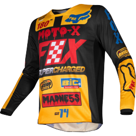 Maillot Fox Kids 180 CZAR black yellow 2019