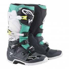 Bottes cross Alpinestars Tech 7 dark gray Teal white
