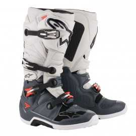 Bottes cross Alpinestars Tech 7 dark gray light gray red fluo 2019