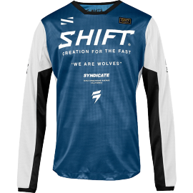 Maillot Cross Shift Whit3 Muse blue 2019