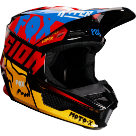 Casque cross Fox V1 Enfant CZAR black yellow 2019