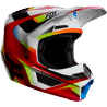 Casque cross Fox V1 Enfant Motif red white 2019