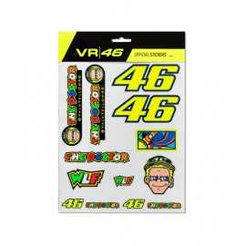 Planche stickers VR46 multicolor