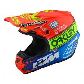 Casque cross Troy Lee Designs SE4 Composite Team Edition 2 orange blue 2019