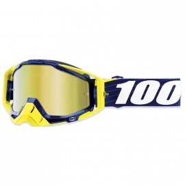 Masque 100% Racecraft Bibal Navy écran or miroir