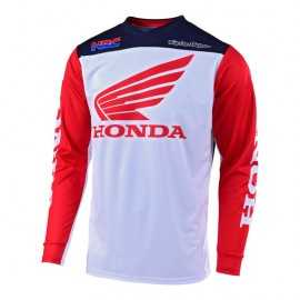 Maillot Troy Lee Designs GP Honda white navy 2019