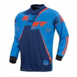Maillot cross Kenny track noir orange fluo