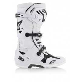 Bottes cross Alpinestars Tech 10 Blanc 2019