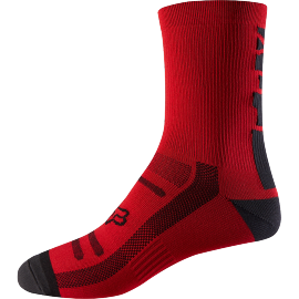 """Chaussettes Fox Trail 8"""" bright red"""