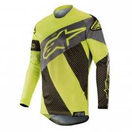 Maillot Alpinestars Racer Tech Atomic black yellow fluo gray 2019