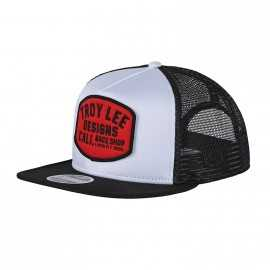 Casquette Troy lee designs Blockworks Snapback white black