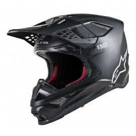Casque cross Alpinestars Supertech S-M8 Solid black matt 2019