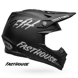 Casque cross Bell Moto-9 Mips Fasthouse gloss black white 2019