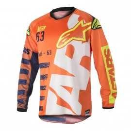 Maillot Alpinestars Racer Braap orange fluo dark blue white
