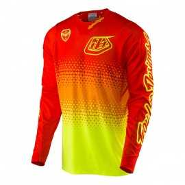 Maillot Troy lee designs Se Air Starburst jaune fluo orange fluo