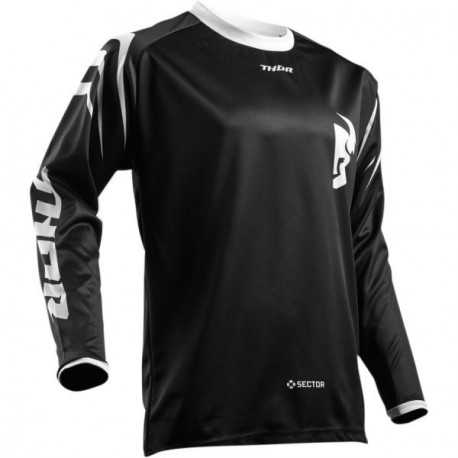 Maillot cross Thor S8 Sector Zone noir