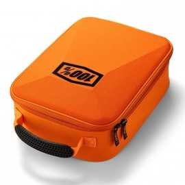 Etui 100% Orange fluo pour masques cross