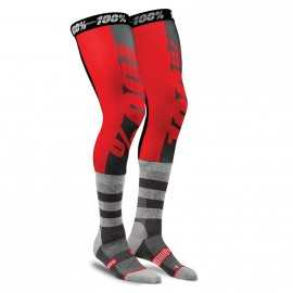 Chaussettes longues cross 100% Performance red