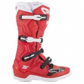 Bottes cross Alpinestars Tech 5 rouge blanc